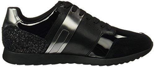 Geox D Deynna D Dames Lederen Sneakers / Schoenen Zwart