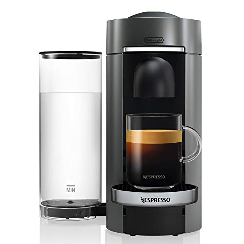 Nespresso ENV155T VertuoPlus Deluxe Coffee and Espresso Maker by De'Longhi, Titan