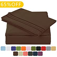 "Balichun Luxurious Bed Sheet Set-Highest Quality Hypoallergenic Microfiber 1800 Bedding Super Soft 3-Piece Sheets with 14"" Deep Pocket Fitted Sheet Twin/Full/Queen/King/Cal King Size (Twin XL, Chocolate)"