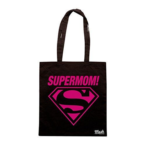 Borsa SUPERMOM - Nera - DIVERTENTE by Mush Dress Your Style