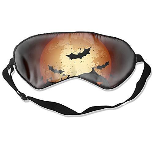 Halloween Pumpkin War Sleeping Eye Mask for women men girls Adults Eyepatch Blindfold Shade Travel natural Sleep Aid Cover Light Guide Relax