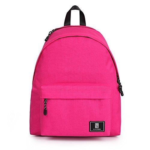 Flyzebra Waterproof Backpack14Inch Laptop Backpack Nylon School Backpack For Girls Rose-red Bags(4) [並行輸入品]   B078WVTMSC