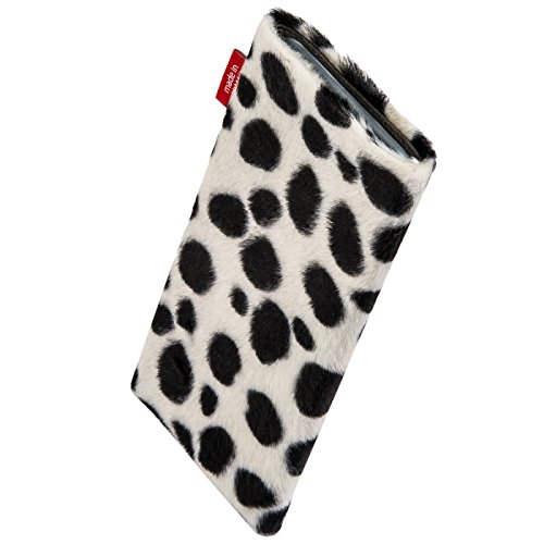 fitBAG Bonga Dalmatian custom tailored sleeve for ARCHOS 40 Cesium. Fine imitation fur pouch with integrated MicroFibre lining for display cleaning
