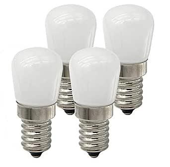 ctkcom 2 W bombilla LED de frigorífico, COB LED bombillas (4 ...