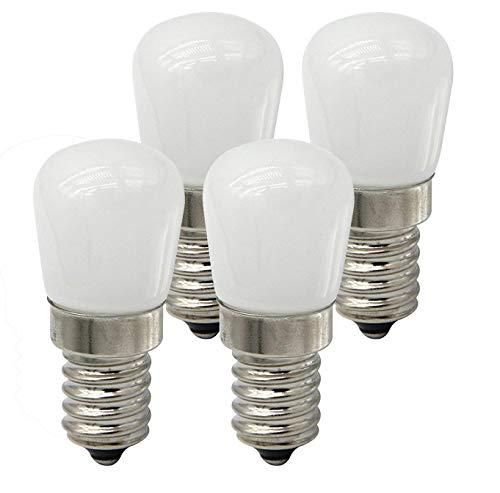 (CTKcom 2W LED Refrigerator Bulb,European LED Bulbs(4 Pack)- E14 LED Refrigerator Light Bulb 15W Equivalent Daylight White 6000K 110V Lamp for Freezer Oven Microwave Lighting,Home Lighting,4 Pack)