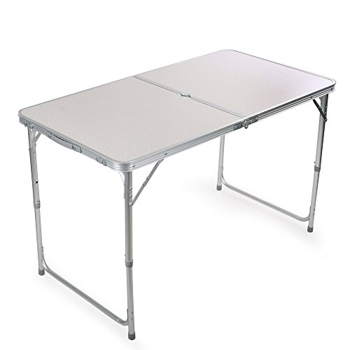 Portable Height Adjustable Aluminum Folding Camping Table FT-ACFT1 (Aluminum Table)