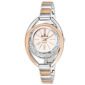 6317daee154 Image Unavailable. Image not available for. Colour  SWISSTYLE Analogue  White Dial Women s ...