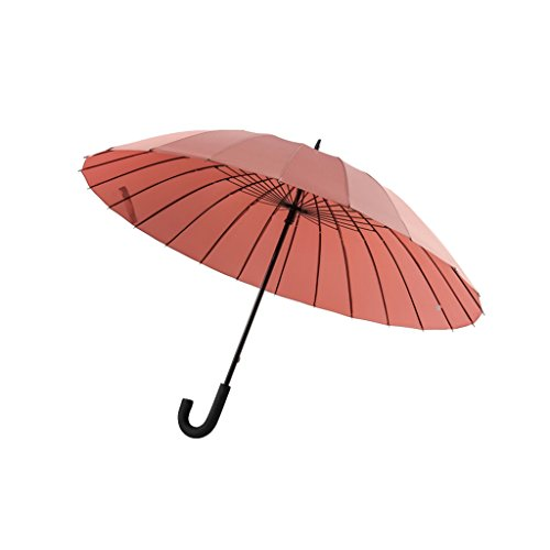 ZHUSAN Umbrella with 24 Ribs, Magic Flowers Long Handle Business 105cm Bumbershoot (Color : Leather Pink)