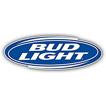 Amazon com: Bud Light Beer Logo Car Bumper Sticker Decal 6'' x 3