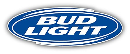 "Bud Light Beer Logo Set of 2 Car Bumper Sticker Decal 14"" X 5"""