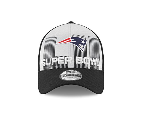 New England Patriots New Era Super Bowl LII Bound 39THIRTY Flex Hat – Gray/Black