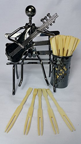 100 Fruit Picks/Mini Bamboo Cocktail Forks 3.5