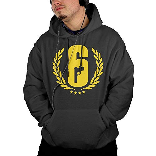 - NEST-Homer Men's Hoodies Rainbow Six Siege Logo Pullover Hooded Print Sweatshirt Jackets with Pocket