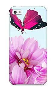 New Tpu Hard Case Premium Iphone 5c Skin Case Cover(flower S )