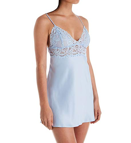 In Bloom by Jonquil Satin Chemise (PSN010) XL/Blue Mist