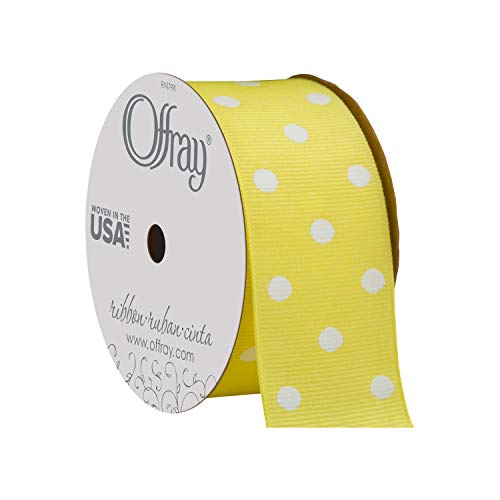 - Offray Grosgrain Polka Dot Craft Ribbon, 1 2