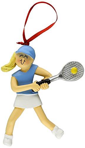 Ornament Central OC-073-FBL Female Blonde Tennis Figurine