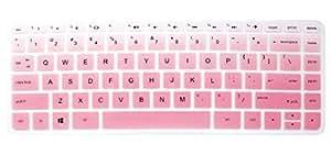 Silicone Keyboard Cover Skin for 14 inch HP Pavilion 14-ab 14-ac 14-ad 14-an, HP Stream 14-ax, HP ENVY 14-j0 Series, 14-ab010 14-ab166us 14-ac159nr 14-an010nr 14-an013nr 14-an080nr (Ombre Pink)