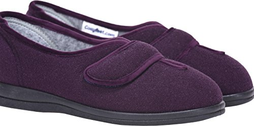 Slippers Extra Diane Width Roomy Trilobal Fitting eeeee Plum Cosyfeet 5Zgpqxq