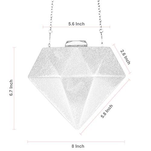 Gold Metal Bags Fashion WALLYN'S Diamonds Alloy Purses Chain Clutch Evening Handbag qxYYvwSH