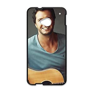 Happy Approachable guitar prince Luke Bryan Cell Phone Case for HTC One M7