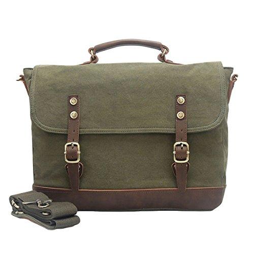 Lona Los Bolso Green De De Ocasionales Del Hombro Messenger Hombres Bag De La Bolsa qxnCf1S