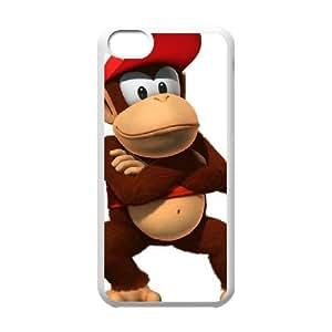 Diddy Kong funda iPhone 5c caja funda del teléfono celular del teléfono celular blanco cubierta de la caja funda EEECBCAAB13795