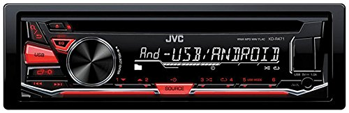 JVC KD-R470 Single DIN In-Dash CD/AM/FM/ Receiver w/ Detachable Faceplate, Front USB and 3.5mm Auxiliary Input (Jvc Car Remote compare prices)