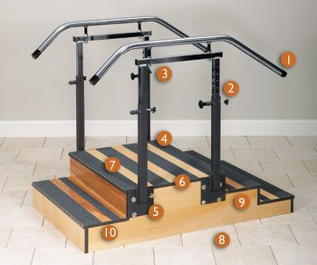 Adjustable small staircase 36'' CLINTON SELECT SERIES STAIRCASES For Physical Therapy - Exercise Equipment - Fitness Item# 4-6500-36
