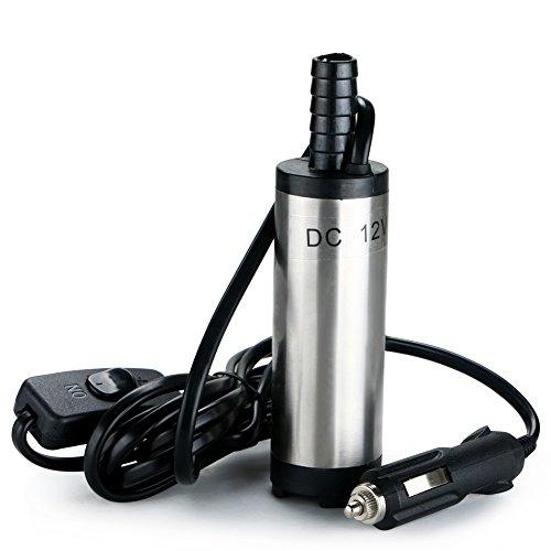 Lilys Gift DC 12V Submersible Pump 38mm Water Oil Diesel Fuel Transfer Cigarette Plug