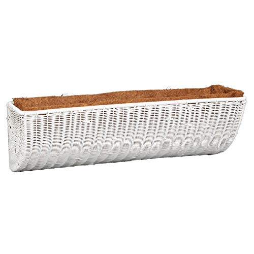 DMC Products 30-Inch Resin Wicker Wall Basket, White from DMC Products
