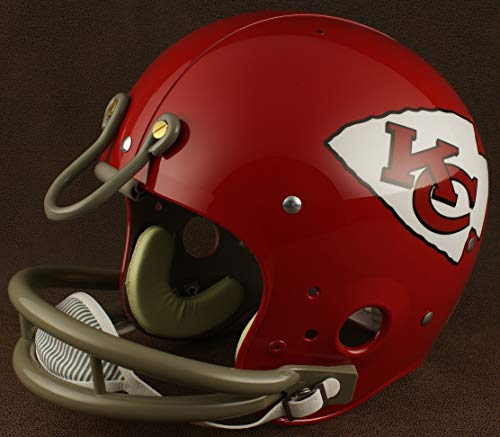 - Riddell Kansas City Chiefs 1963-1973 NFL TK Suspension Football Helmet