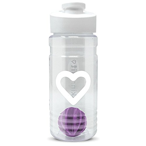 SkinnyFit Shaker Bottle 20oz. BPA Free with Mixing Ball, Leak Proof Cup for Gym, Sports, Ideal for Mixing Protein Shakes