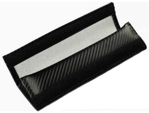 Car Seat Belt Safety Shoulder Strap Cover Cushion Harness Pad Carbon Fiber Logo MOMO