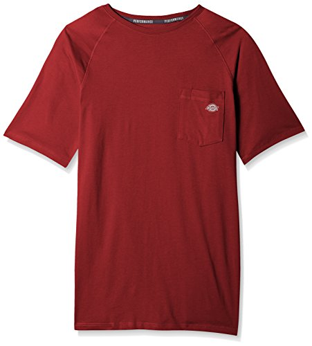 - Dickies Men's Big and Tall Short Sleeve Performance Cooling Tee, Cane Red, XT