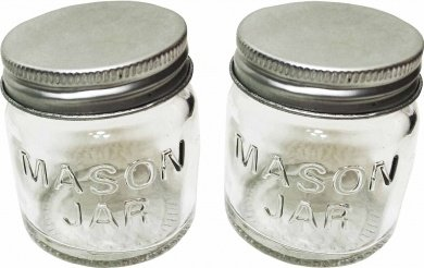 Amazoncom Set Of 2 Mini Mason Jars Glass With Metal Screw Top