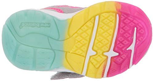 New Balance Girls' 888v2 Hook and Loop Running Shoe Grey/Rainbow 2 W US Infant by New Balance (Image #3)