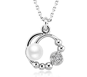 ZMC Women's White Pendant Necklace