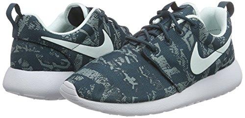 Roshe Blau Chaussures premium De Teal Fbrglss Platinum Femme midnight Pour Print Course One Nike 64HcTZyUZ