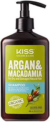 Kiss Color & Care Argan & Macadamia For Dry and Damaged Natural Hair Shampoo (13.5 fl. oz // 400 mL)