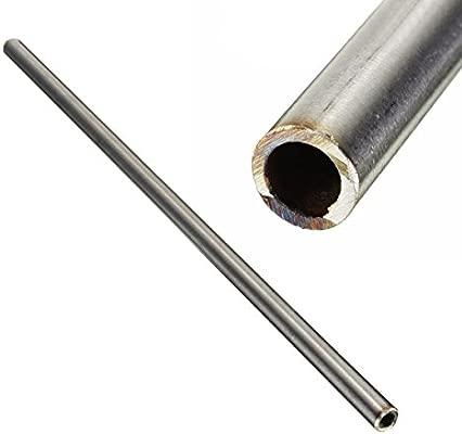 ChenXi Shop 4 piezas OD 10 mm x 8 mm ID tubo inoxidable 304 acero inoxidable Capilar Tubo Longitud 250 mm