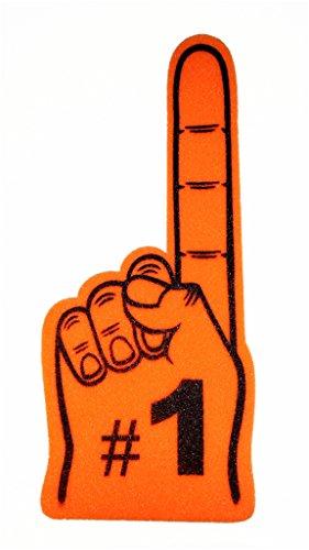 """UPC 854428004801, Giant #1 Foam Finger, 24"""" (Orange)"""
