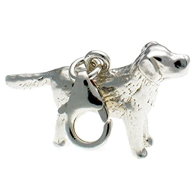 Welded Bliss Sterling 925 Solid Silver Labrador Dog Charm Clip Fit WBC1273