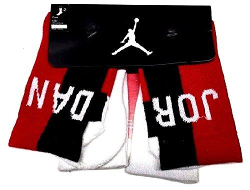 Boy's Jordan Two-Tone 2-Pack High Crew Socks 5Y-7Y