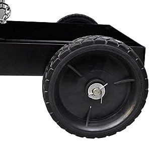 SKB Family Welding Cart Black with 3 Shelves Workshop Organizer Heavy Duty Welder Storage Cart by SKB Family