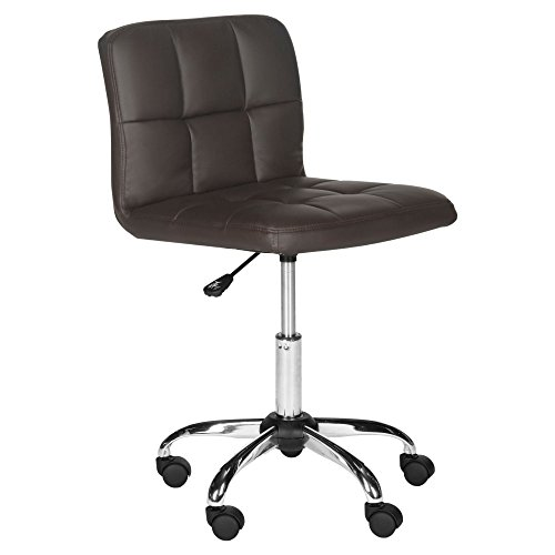 Safavieh Home Collection Brunner Brown Desk Chair, Gold/Whit