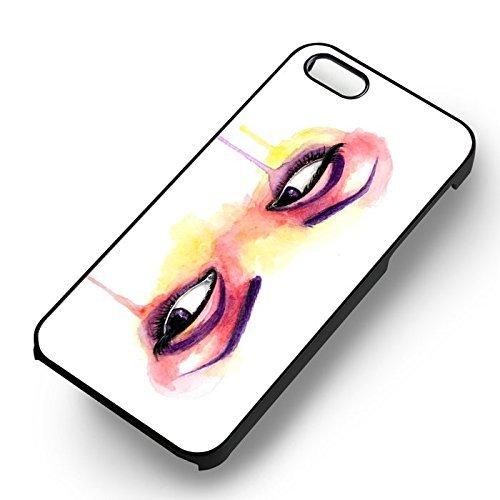Eyes Painting Art pour Coque Iphone 6 et Coque Iphone 6s Case (Noir Boîtier en plastique dur) Z1I0IT