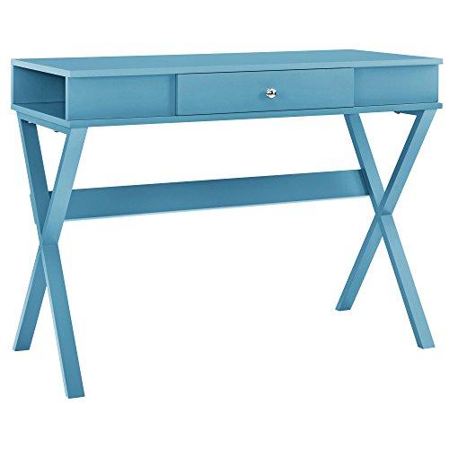 Ameriwood Home 9258296COM Paxton Campaign Desk, Blue