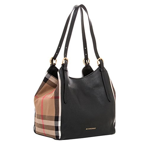3f7517503f5d Burberry Women s Small Canter in and House Check Black Beige - The ...