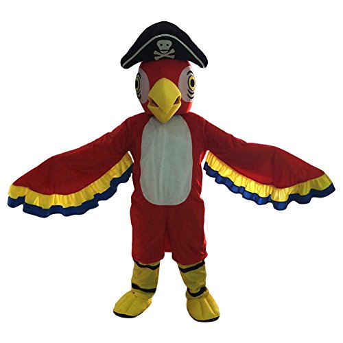 Pirate Hat Eagle Mascot Costume Adult Size Cartoon Halloween Fancy Dress Suit -